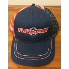 Fountain Adjustable  Navy American Flag Hat