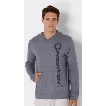 Fountain Steel Grey Premium Hooded Long Sleeve