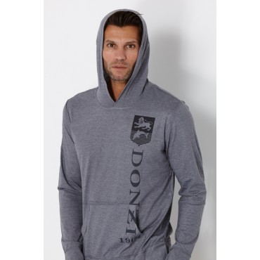 Donzi Steel Grey Premium Hooded Long Sleeve