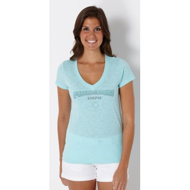 Ladies Fountain Eye Candy Tee - Aqua