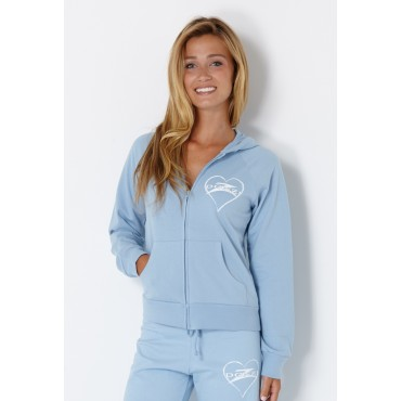 Donzi Ladies Bella Hoodie Zip Up Light Blue