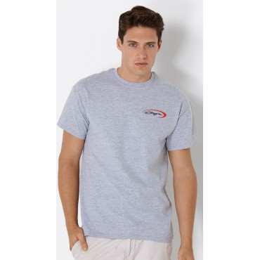 Baja Logo T-Shirt Sports Grey  w/Red Swoosh