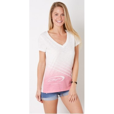 Baja Ladies Premium V-neck Shirt (Pink)