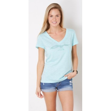 Baja Eye Candy Tee in Aqua