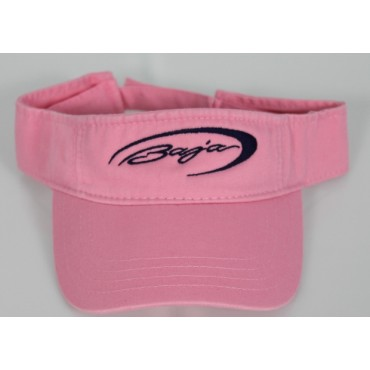 Baja Pink Visor with Navy Embriodery