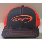 Baja Graphite/Neon Orange Adjustable Hat