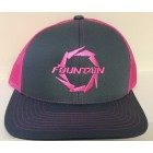 Fountain Graphite/Neon Pink Adjustable Hat