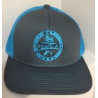 Donzi Graphite/Neon Blue Adjustable Hat