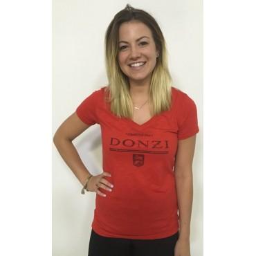 Ladies Red Donzi T-Shirt