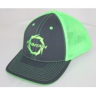 Fountain Graphite/Neon Green Trucker Mesh Flex Fit Hat