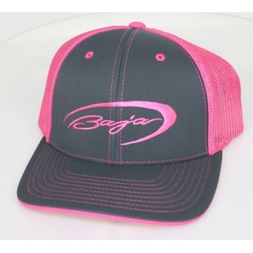 Baja Graphite/Neon Pink  Flex Fit Hat