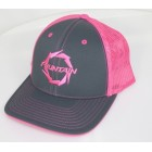 Fountain Graphite/Neon Pink Trucker Mesh Flex Fit Hat