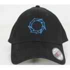 Fountain Black Flex Fit Hat w/ Lightening Bolt- BLUE