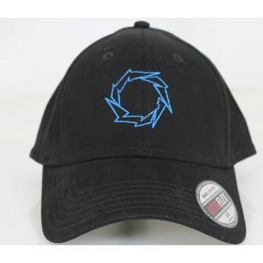 Fountain Black Flex Fit Hat w/ Lightening Bolt- BLUE