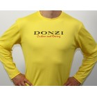 ONE LEFT!!! Donzi Yellow Long Sleeve Custom Racing Textured Shirt