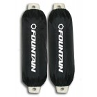 "Fountain  Logo'd 8"" Black Fender Covers in White ink -Sold Individually"