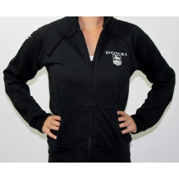 Ladies Black Full Zip Donzi Hoodie