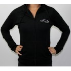 Baja Ladies Black Hooded Sweatshirt