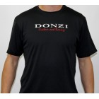Donzi Short Sleeve Black Custom Racing Textured Tee