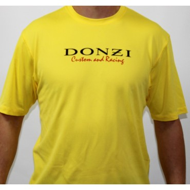 Donzi Short Sleeve Yellow Custom Racing Textured Tee