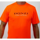 Donzi Short Sleeve Orange Custom Racing Textured Tee