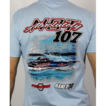 ABSOLUTELY NOT - Fountain Racing Tee (Light Blue)