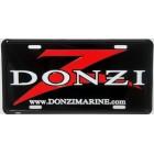 Donzi Aluminum License Plate