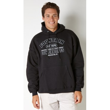 Fountain Black Hooded Sweatshirt EST 1979