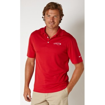 Baja Nike DriFit Polo in Red