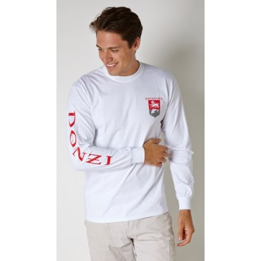 Donzi Long Sleeve White Tee