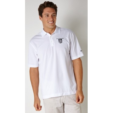 Donzi Nike Drifit Polo in White