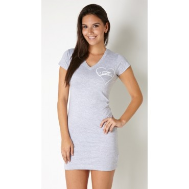 Donzi Heather Grey T-shirt Dress and/or Bathing Suit Cover up