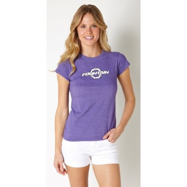 Fountain Ladies Heather Purple T-Shirt