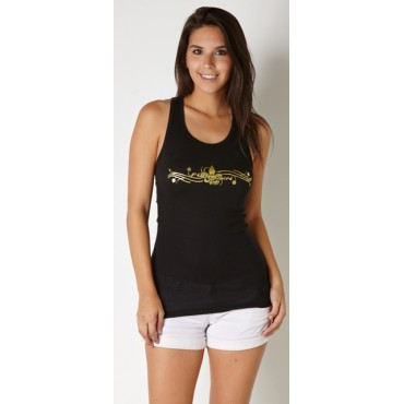 Fountain Gold Foiled Racerback Tank