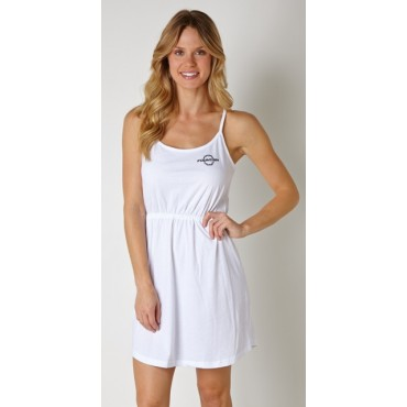 Fountain  White Strappy Dress