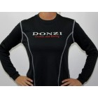Ladies Black Long Sleeve Custom Racing Textured Tee
