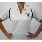 TWO LEFT! Ladies White & Black Dri Fit Polo Shirt