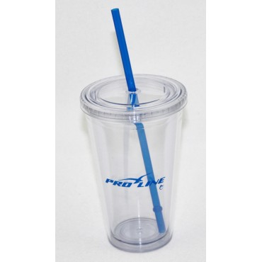 Proline 16oz DoubleWall Cup w/ Straw