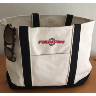 Fountain Black/Natural Tote Bag