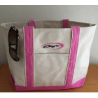 Baja Pink/Natural Tote Bag