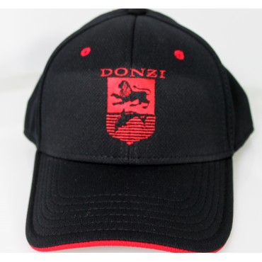 Donzi  Flex Fit Black Hat  With Red Logo