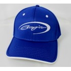 Baja Royal Blue Flex Fit Hat w/White Logo