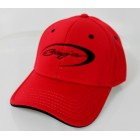 Baja Red Flex Fit Hat w/Black Logo