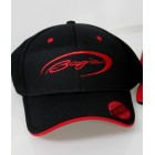 Baja Black Flex Fit Hat w/Red Logo